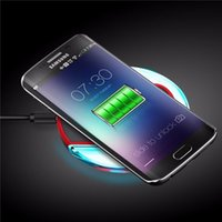 Wholesale Cargador Galaxy - 2016 Universal Qi Wireless Charger Charging Pad for Samsung Galaxy S6   S6 Edge S7 S7Edge Cargador Movil Inalambrico