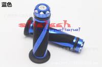 Wholesale by dhl or ems pair MOTORCYCLE ALUMINUM quot HANDLEBAR RUBBER HAND GRIP MM MOTORCYCLE GRIPS colors sl