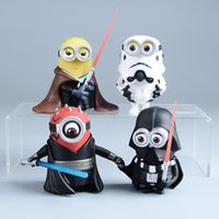Wholesale Minions action figures Wars Star Model Jedi Knight figure cosplay Minions toy Decoration without basement