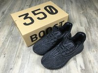 aa cuttings - Cheap Hot Grey Orange Kanye West Boost V2 Black White Running Casual Shoes AA High Quality Size US Sneakers