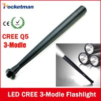 Wholesale Ultra Bright Mini CREE Q5 modle LED Flashlight TorchBaseball Bat way to Dropshipping Security