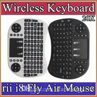keyboard - 10X Wireless Keyboard rii i8 keyboards Fly Air Mouse Multi Media Remote Control Touchpad Handheld for TV BOX Android Mini PC JP