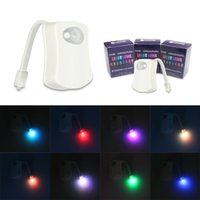 Wholesale Miyol Safe Reliable LED Sensor Motion Battery operated Toilet Night Lights Toilet Bowl Light DHL FEDEX