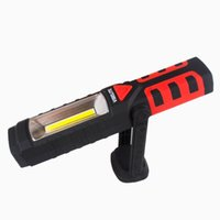auto led rechargeable flashlight - LED Work Light Flashlight for Home Auto Camping Emergency Kit DIY More Ultra Bright Flood Light Red