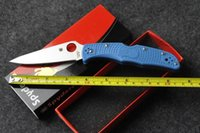 Wholesale Spider military folding knife Spyderco knives Endura Flat Ground FRN Folding Knife Outdoor Knife Survival Knves