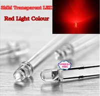 Wholesale mm Transparent Round LED Red light Colour LED emitting diode F3 LED Red Colour