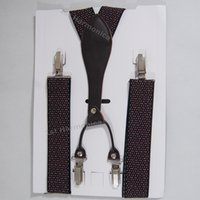 Wholesale New Mens dark red Braces cm Wide cm length Heavy Duty Suspenders Adjustable stretchable Y back for dad