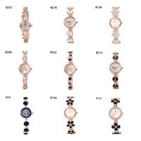 Precio de Relojes de pulsera piezas-venta caliente reloj de pulsera de relojes del anti-fatiga relojes 6 pedazos una porción del color de la mezcla, las mujeres del corazón de la flor de la manera miran el reloj GTWH2 reserva de marcha