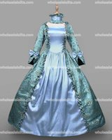 Wholesale HOT Global FreeShipping th Centry Rococo Style Marie Antoinette Vintage Sky Blue Print Costumes