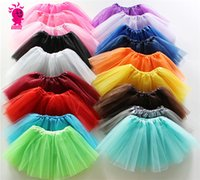 baby ballet clothing - Baby Girls Childrens Kids Dance Clothing Tutu Skirt Pettiskirt Dancewear Ballet Dress Fancy Skirts Costume Gauze skirt for T