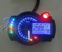 Wholesale Adjustable digital Motorcycle speedometer LCD digital Odometer KMPH Display with sensor Universal for all motorcycle