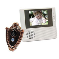 Wholesale 2 quot LCD Electronic Video Doorbell with Camera Monitor Photographed Door Bell Electronic Visual Cat s Eye Home Security Gold
