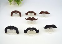 Wholesale Silicone Funny Nipple Dummy Baby Soother mustache Teethers Joke Prank Toddler Pacy Orthodontic Nipples Teether Baby Pacifier Care