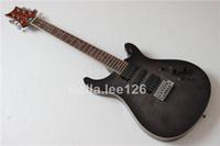 Wholesale OEM custom frets rosewood fingerboard mahogany body and neck grey flame maple fisnish electric guitars