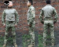 Wholesale Emerson Wearable Combat Tactical Training Set Perfect Version Shirt Pants Elbow Knee Pads Outdoor Hunting Camping Uniform Set
