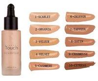 Wholesale 2016 Unique Touch Mineral Liquid Foundation Professional Makeup Foundation Waterproof Face Concealer Liquid Colors