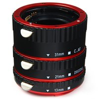 Wholesale New arrival mm mm mm Quality AF Auto Focus Macro Extension Tube Set For Canon DSLR Camera And Fast Shipping