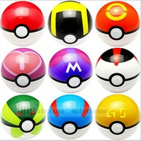 Wholesale Pokeball Toy Pocket Monster Ball Poke Ball Pokeball Classic Anime Pikachu Ball Super Master Ball Action Figures Christmas Toys cm B823