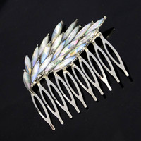 Wholesale Fascinating And Fashion Silver Plated Colorful Crystal Wing Hair Combs Trendy Hair Accessories For Women Bridal Hair JewelryDHF373