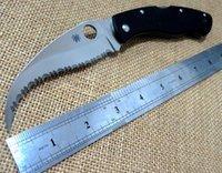 Wholesale Spyderco Civilian G C12G Fold Knives Cr13Mov Camp Hunt Pocket Knife Outdoor Tool