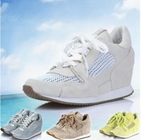 Wholesale Top Quality Ash Dream Lace Up Wedge Sneakers Hollow Mesh Suede Casual Tide Women s Trainers Sport Shoes