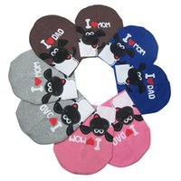 ape boy - 30pcs Baby hat Cotton Knitted Warm Beanie Hat Toddler Girl Boy Ape head cap Mom and Dad I love sheep print baby caps