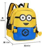 backpacks for preschool boys - Cute Multifunctional Despicable Me Backpack For Kids Boys Girls Minions Backpack Baby Preschool bag Toy Bag