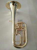 bass french horn - German Model Straight Key Bb Alto Bass Silver Plated French Horn