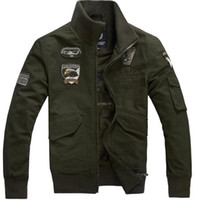 air tooling - Washed cotton jackets Air Force One a leader in dress standing tooling jacket men s casual Coat Size M XXXXL