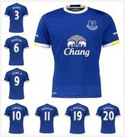 2016 2017 Tailandia Quality Everton Home Azul Soccer Jerseys Uniformes 16 17 Maillot de pie LUKAKU MIRALLAS BARKLEY ETO O Camisetas de fútbol