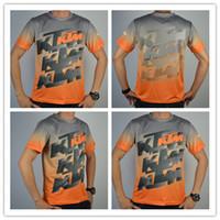 Wholesale Brand New Camisetas KTM MX Motocross Jersey orange MTB Men Short Sleeve KTM Cycling Off road Jerseys Summer Downhill T Shirts