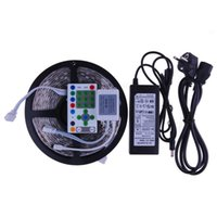 DC12V 5M 5050 RGB LED Strip Digital Dream Color Magic lumière imperméable à l'eau + IR Transformer 6A Controller + Pour Décoration de Noël