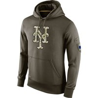 Wholesale Cheap New Men s Hoodie New York Mets Olive Salute To Service KO Performance Hoodies Mixed order