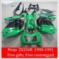 Wholesale Glossy Green Black Fairing Kits For Kawasaki Ninja ZX R ZX250R OEM ABS Original Painting Motorcycle Mold Fairings