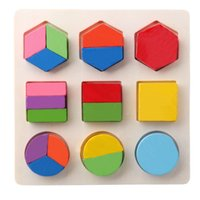 Wholesale Baby Wooden Learning Geometry Educational Toy Puzzle Montessori Early