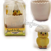 baby keepsake box - Sets Boxes About to Hatch Ceramic Baby Chick Salt Pepper Shaker Baby Shower Kids Party Keepsake Birthday Gifts Supplies