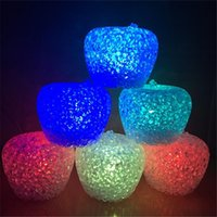 apple fruit type - Popular Hot Sale Top Selling Apple Type Night Light Colorful LED Lamp Baby Toys Novelty Lighting