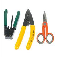 Wholesale Whloesale FTTH Splice fiber optic tool kits Fiber Optic Tool sets Pixian Fibre stripping optical fiber Kevlar Scissors