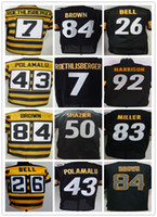 Wholesale Pittsburgh Steelers Ben Roethlisberger Terry Bradshaw Troy Polamalu Ryan Shazier Antonio Brown Le Veon Bell elite jerseys