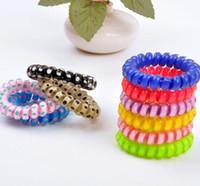 Wholesale 2016 Fashion Elastic Headband Hair Accessories Telephone Bracelet Girls Gifts Bandeau Fille Korean Hair Tie Tiara Rubber Band L110