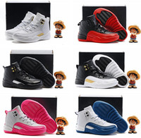 Wholesale 2016 Retro XII French Blue Master OVO Kids Basketball Shoes Girl Boy s Retros High Quality Sport Shoes Youth Basketball Sneakers C Y