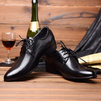 Wholesale 2016 Office Men Dress Shoes Italian Wedding Man Casual Shoes Oxfords Suit Shoes Man Flats Leather Shoes Zapatos Hombre