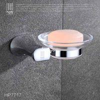 Wholesale Han Pai Brass Bathroom Accessories Wall Mounted Soap Dish Holder Bath Acessorios de banheiro Soap Box HP7717