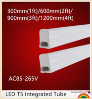 Wholesale YON LED Tube T5 Light m m m m ft ft ft ft AC85 V W W W W LED Fluorescent Tube T5 Wall Lamps T5 Bulb Light