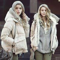 add down jackets - 2016 autumn winters in Europe and the pure color long sleeve zipper pocket add wool upset down jacket
