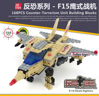 air hawk - Military Counter strike special force F15 hawk fighter building block model air force soliders minifigures whoselase