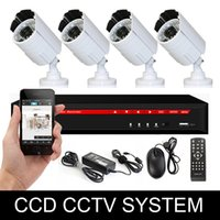 Wholesale professional cctv system h ch dvr hdmi port vga real time waterproof bullet camera ccd tvl