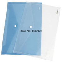 Wholesale Deli A4 paper transparent plastic folder documents bag envelope paper bags for business amp school filing