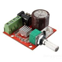 Wholesale bidbus V Mini Hi Fi PAM8610 X10W Audio Stereo Amplifier Board Dual Channel board deck board fuse