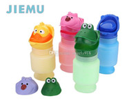 Wholesale Unisex Portable Cartoon Kid Children Urinal Car Travel Bucket Toilet Potty Training Pee Camping Urine bottles C1044